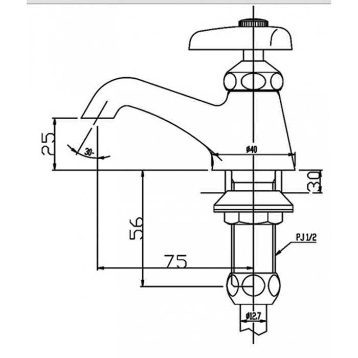 Vòi lavabo lạnh Inax LF-1-1
