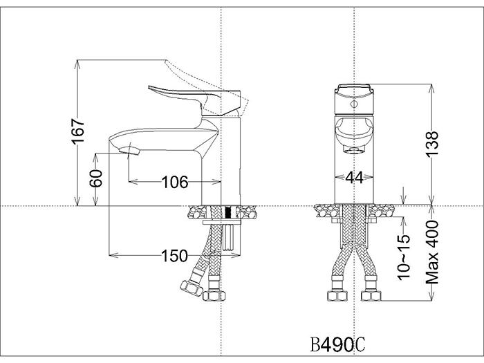 Vòi Lavabo nóng lạnh - B490CP-2