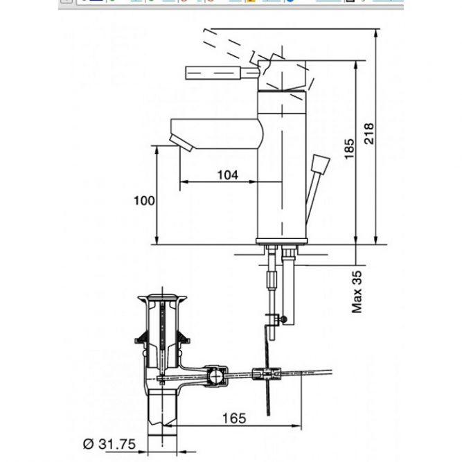 Vòi rửa lavabo Inax LFV-8000S nóng lạnh-1