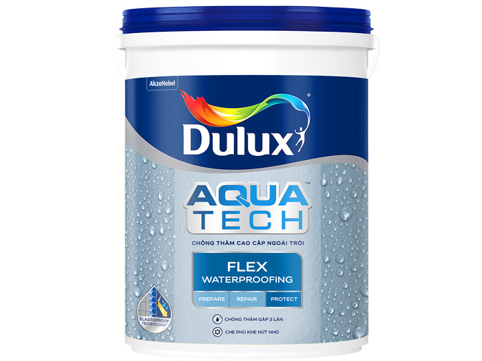 Chất chống thấm Dulux Aquatech Flex Waterproofing 20kg-1