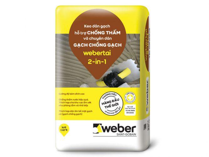 Keo dán gạch Weber.tai 2 in 1 5kg/bao
