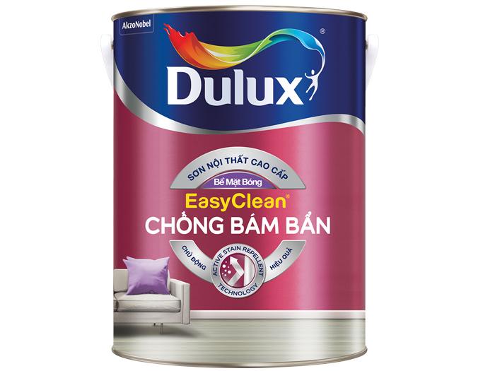 Sơn Dulux easyclean chống bám bẩn - bề mặt bóng 1L-1