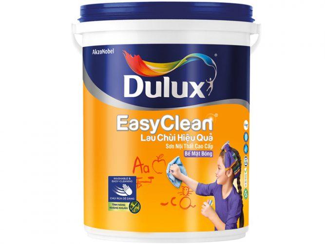 Sơn dulux easyclean lau chùi hiệu quả bề mặt bóng 1L