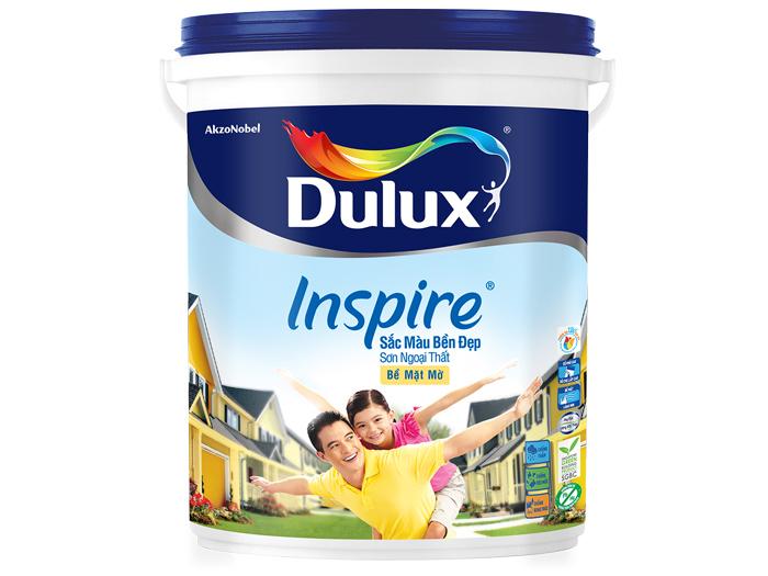 Sơn Dulux inspire ngoại thất sắc màu bền đẹp bề mặt mờ 18L-1