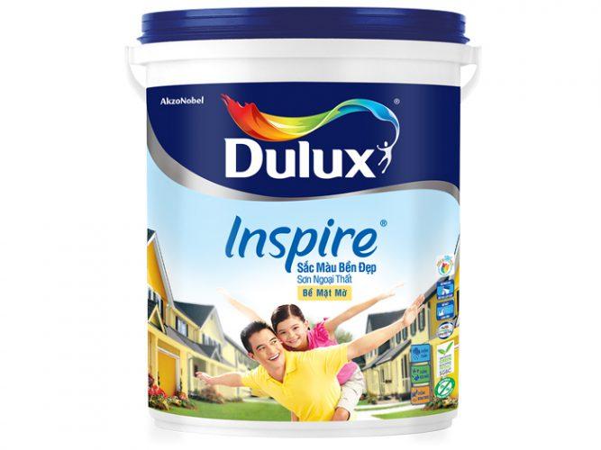 Sơn Dulux inspire ngoại thất sắc màu bền đẹp bề mặt mờ 18L-2