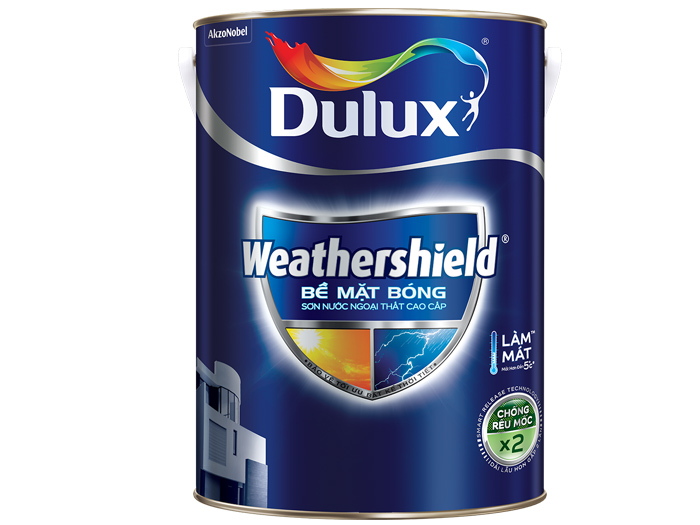 Sơn ngoại thất Dulux weathershield bề mặt bóng 1L-1