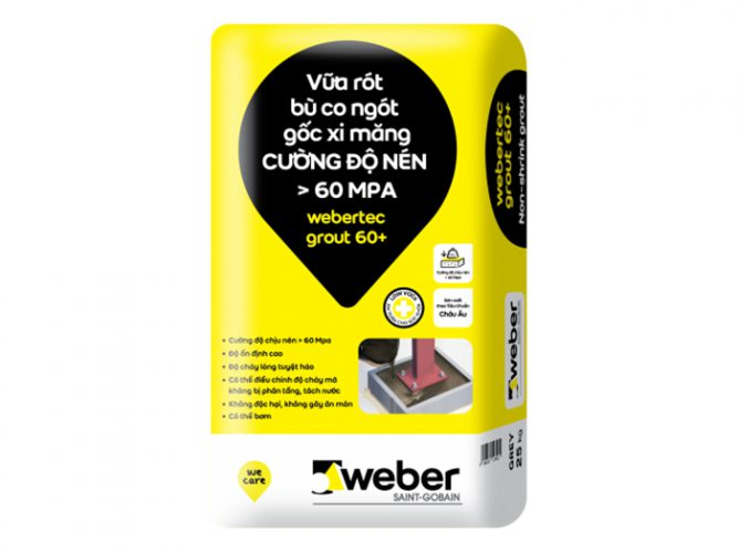Vữa bù co ngót Weber Tee Non Shrink grout 25kg-2