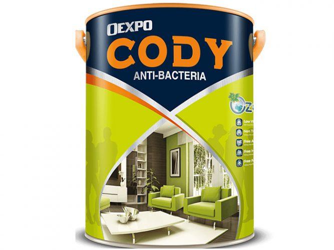 Sơn nội thất Cody Anti - Bacteria 18L