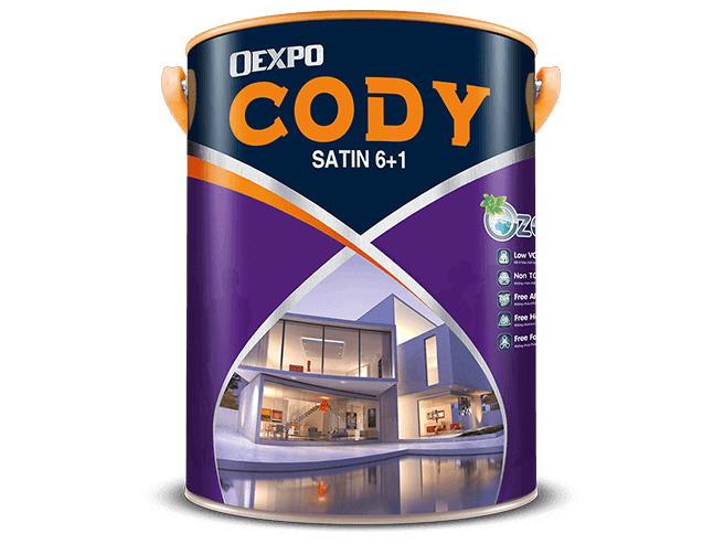 Sơn nước bóng ngoài trời Oexpo cody satin 6+1 18l
