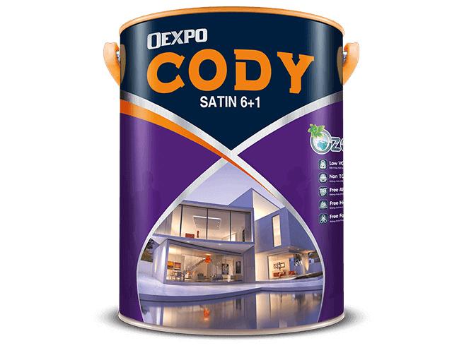 Sơn nước bóng ngoài trời Oexpo cody satin 6+1 1l 4,375L