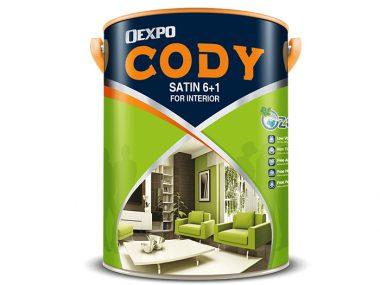 Sơn nước nội thất bóng Oexpo cody satin 6+1 for interia 4,375L