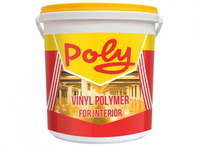 Sơn nước nội thất mịn Poly - Poly Vinyl Polymer Emulsion Paint 3,35L