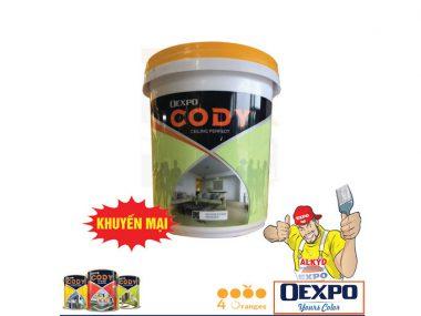 Sơn trắng trần chống nấm mốc OExpo Cody Ceiling-Perfect 17L