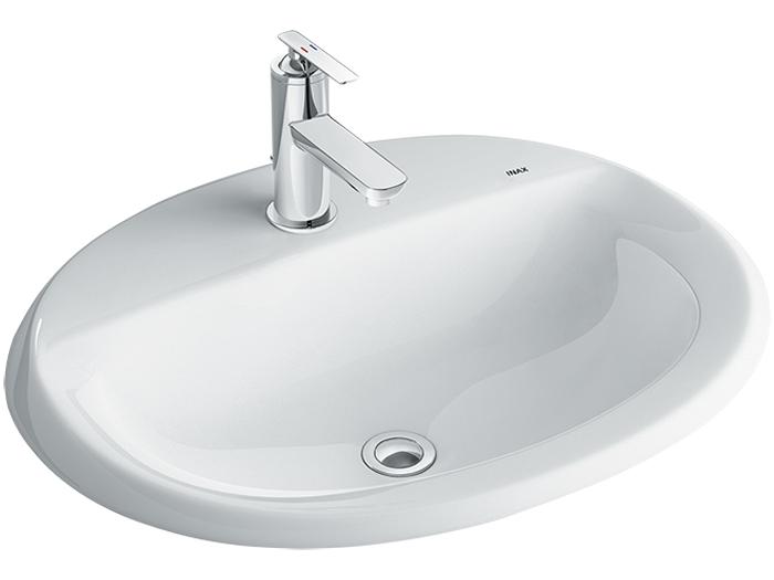 Chậu rửa mặt âm bàn Inax L-2395V dương vành