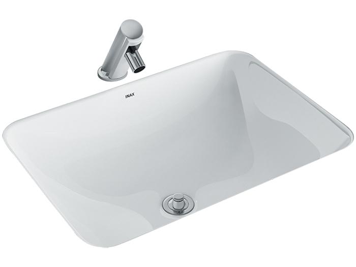 Mẫu lavabo Inax AL-2298V âm bàn aqua ceramic