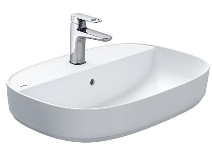 Mẫu lavabo Inax AL-652V đặt bàn aqua ceramic