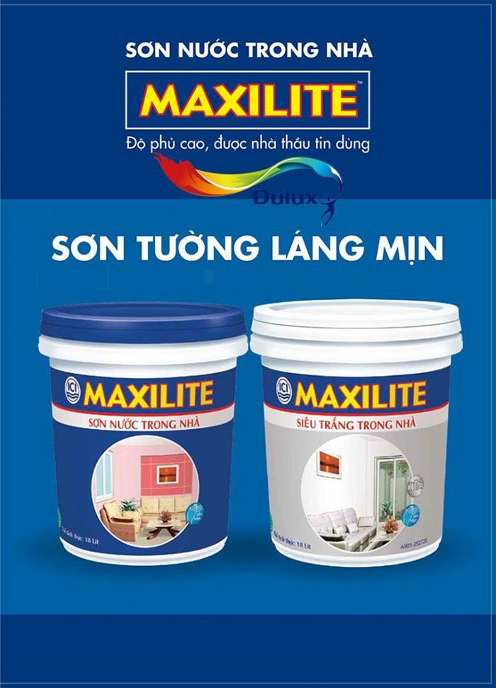 Sơn nước Maxilite láng mịn
