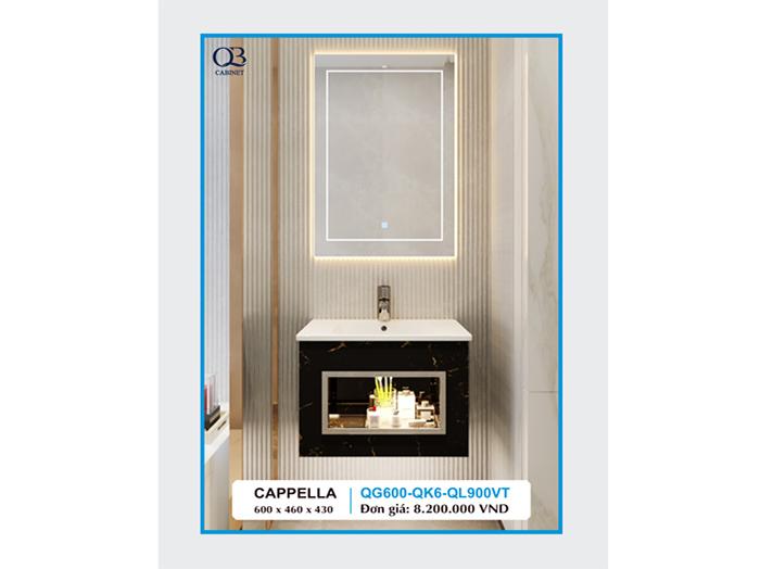 Mẫu tủ chậu lavabo capella QG600-QK6-QL900VT