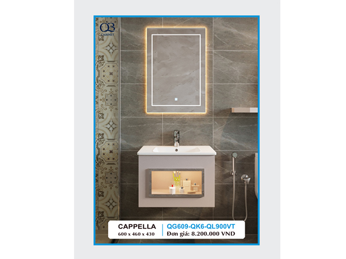 Tủ chậu lavabo cappella QG609-QK6-QL900VT
