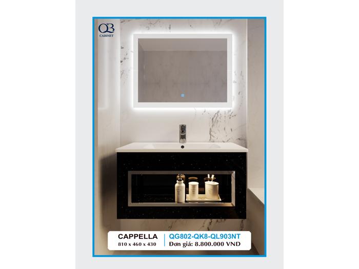 Tủ chậu lavabo cappella QG802-QK8-QL903NT đẹp chất lượng