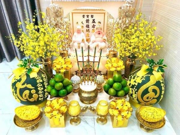ý nghĩa bàn thờ ông Địa - Thần Tài