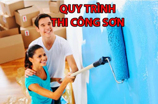 quy trình chuẩn khi thi công sơn