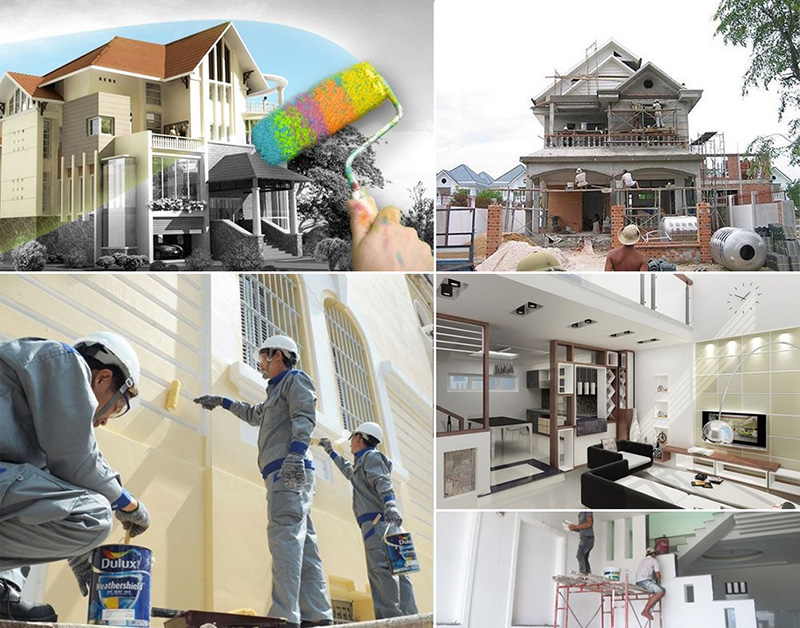 Hướng dẫn quy trình sơn nhà mới xây