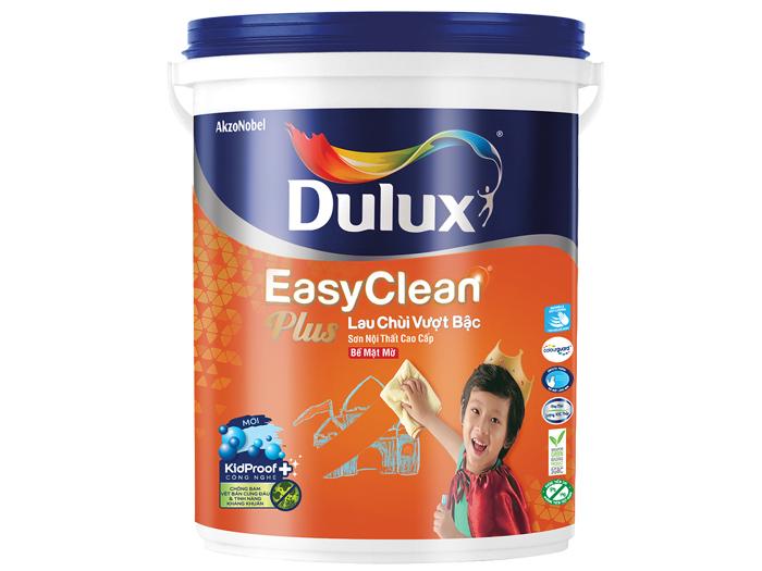 Dulux easyclean plus 74AB lau chùi vượt bậc bề mặt mờ