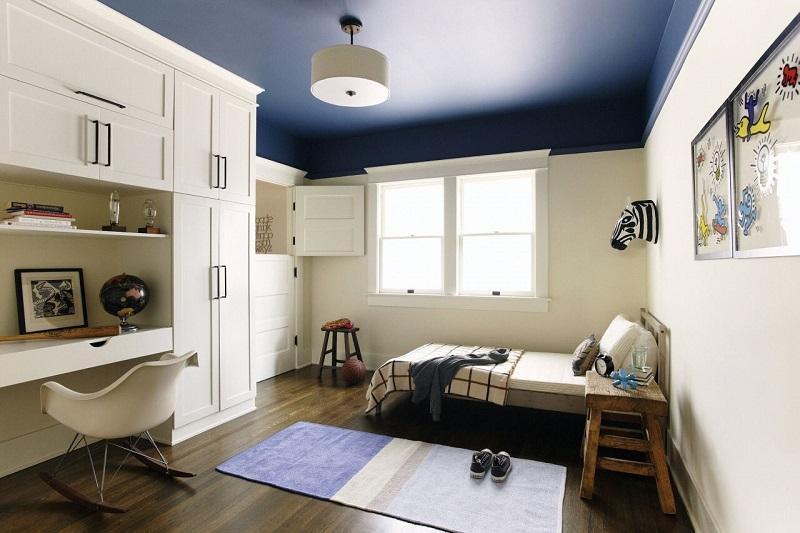 Sơn trần nhà màu xanh navy