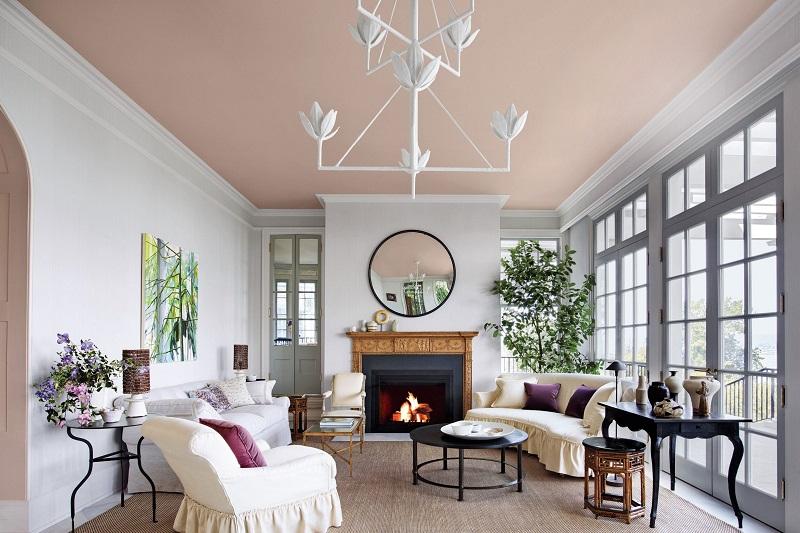 Sơn trần nhà đẹp với cách phối màu liền kề