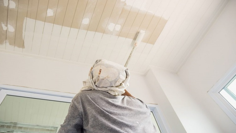 TUyệt chiêu sơn trần nhà đẹp