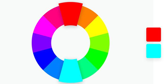 Phối màu phong cách Complementary
