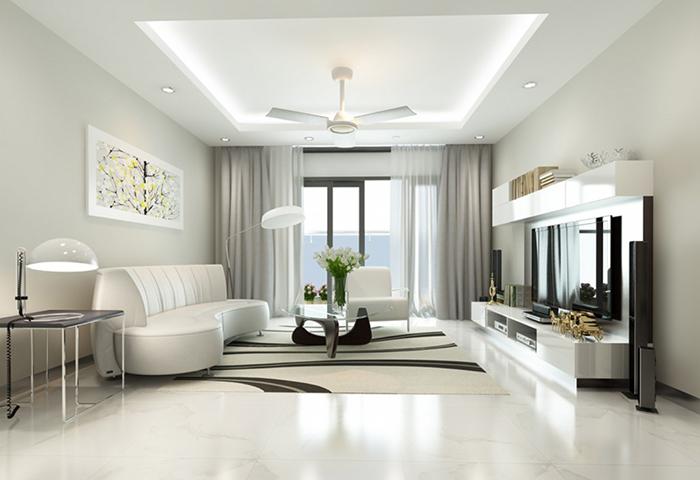 Màu trắng thống trị bảng sơn nhà đẹp