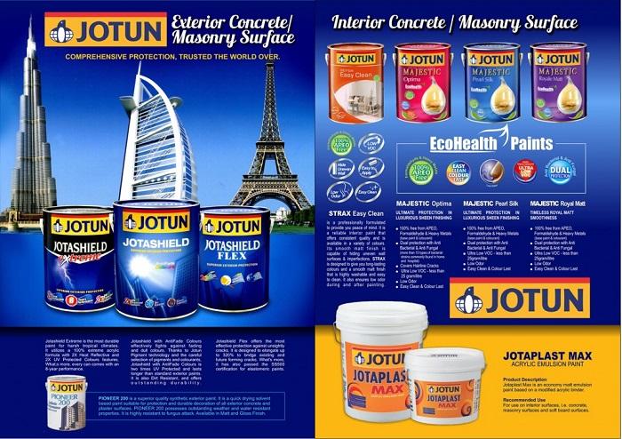 Sơn Jotun là 1 trong các loại sơn nhà tốt nhất hiện nay; thông dụng với mọi công trinh