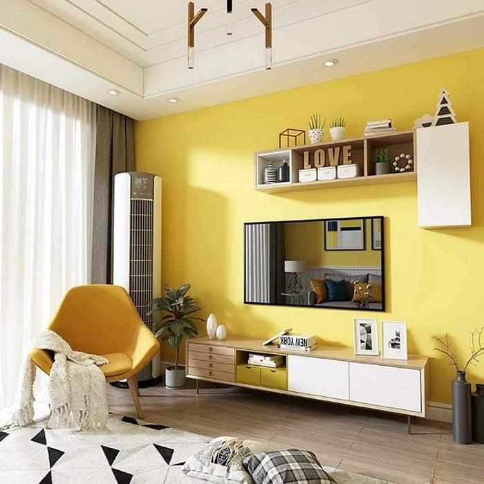 Phối màu vàng trắng khi sơn nhà