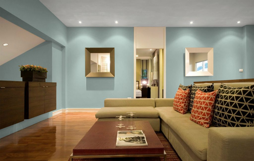 Sử dụng tông xanh lam cho nội thất